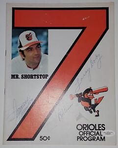 LARRY DOBY BOB LEMON MINNIE MINOSO Signed 1977 Orioles Official Program JSA