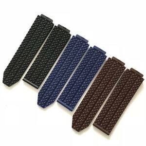 Watch Rubber Strap Watchband Fits For Hublot Big Bang Series 18x24mm Watch Band