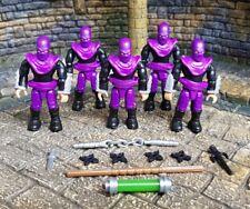 Halo Mega Bloks TMNT Foot Soldiers Army Builder x5 Mutant Ninja Turtles Construx