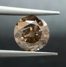 1.50 Carat Natural Color Dark Brown Champagne Diamond Loose Sparkling Best Price