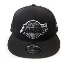 Los Angeles Lakers New Era 9Fifty Squad Twist Black Snapback Hat Cap NBA