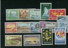 #100 - #113 * Mint hinged Cat Value $44 TONGA stamps