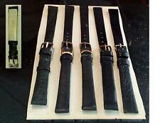 5 cinturini pelle orologio donna vintage nuovi, uno foca. Leather band watch nos