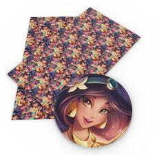 "Jasmine Princess FAUX LEATHER SHEET 9"" X 12"" 22X30CM  PRINTED A4 1129718"