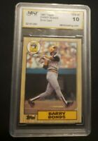 Barry Bonds 1987 Topps RC ERROR CARD Gem Mint 10 Wow EXTREMELY RARE