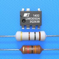 LNK305GN + Widerstand 100 Ohm 3 Watt + 1000µH Drossel, Whirlpool, AEG, Bauknecht