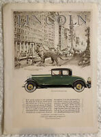 Lincoln Vintage 1927 Color Lincoln Four passenger coupe CAR Advertisement