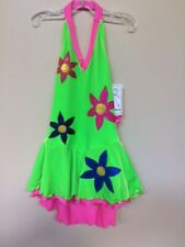 "New ""Neon Blooms"" skating dress size Adult medium"