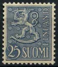 Finland 1954-9 SG#532, 25m Blue Definitive MNH #D73261