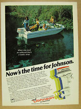 1978 Johnson 35-hp Outboard motor Cobia boat photo vintage print Ad
