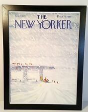 "New Yorker Magazine Vintage Ski Poster 18"" x 24"" ..Free ship in USA!"