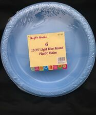 12 x  light blue   disposible plastic plate  26 cm  for all occasion
