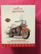 Hallmark Keepsake Ornament Harley Davidson 2017 final 1968 FLH Electra glide #19