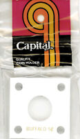 Capital Holder 2x2 For Buffalo Nickel Coin Display White Acrylic Plastic Case