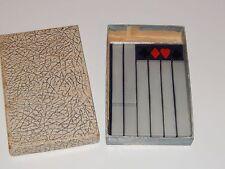 Rare Vintage Bridge Game Tally 4pc Set Made of Mirrored Glass w Orig Box