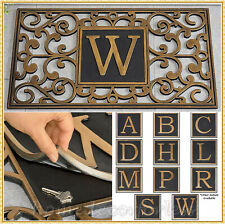 Monogram Hide A Key Door Mat Personalized Initial Hidden Security Porch Home