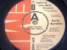 """ROCKY BURNETTE - FALLIN' IN LOVE (BEIN' FRIENDS)     7"""" VINYL DEMO"""