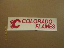 CHL Colorado Flames Vintage Style#2 Logo Bumper Sticker