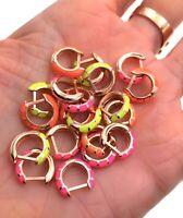 Neon Minimal Huggie Earring 925 Solid Sterling Silver Rose Gold Vermeil