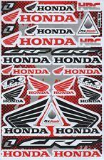 1x Decals Wings Honda HRC FX Racing Stickers Sheet Emblem Motorcycle Racing S16