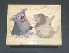 Stampabilities House Mouse INTERVIEW WITH A VAMPIRE Wood Stamp Halloween HMJR109