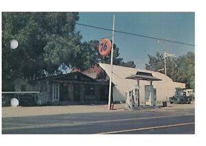 Old Union 76 Gas Station Old Gas Pumps Dulzura, CA Barrett Cafe Postcard
