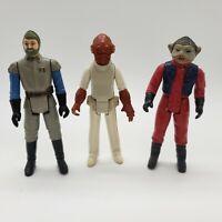 Star Wars Vintage Kenner Figure Lot of 3 General Madine Nien Nunb Admiral Ackbar