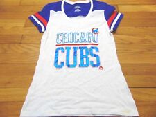 NEW WOMEN'S MAJESTIC MLB CHICAGO CUBS FAN FASHION T-SHIRT SIZE M