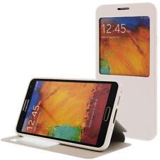 similicuir Pochette pour téléphone cellulaire pour Samsung Galaxy Note 3 Blanc