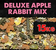 Apple Rabbit Food Deluxe Mix + Protein Pellets 15KG BMFD DS