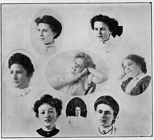 1907 Brooklyn NY Girls High School Yearbook~Photos~History~Sororities~Local Ads