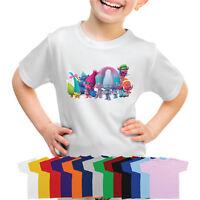 Trolls Characters Boys Girls T-Shirt-103ds