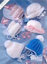 (101) Crochet Pattern for Baby Boy Girl Helmets, Bonnets, Hats, Premature -2yrs