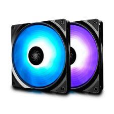 DeepCool DP-FRGB-RF140-2C Deepcool 2 Pack RF 140 RGB LED 140mm PWM Case Fan  WP.