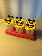 SALE Set of 6 Tupperware Ice Tups Popsicle Maker Set Mickey Mouse Summer Fun