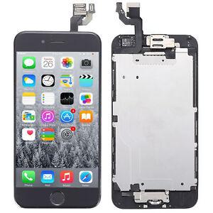 Display Vormontiert für Apple iPhone 6S RETINA Schwarz Glas Front Bildschirm