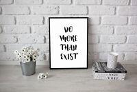 Motivational Life Quote Poster Decorative Print A3 A4 Size Success Positive Art