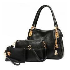 3Pcs Women Handbag Shoulder Bags Tote Purse PU Leather Lady Messenger Hobo Bag