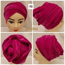 Women's Luxury Stretchy Velvet Plain Long Turban/Head Wrap