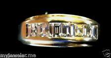 Wedding Band, Baguettes, Princess Cut 1.50 Carats Diamonds,1 00000509 4Ky Gold, Men'S