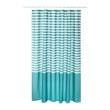 VADSJÖN Shower curtain, turquoise, 71x71 ""