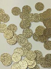 "Confetti 5/8"" Paper Circles Gold Glitter Wedding Birthday Party Decor - 150ct"