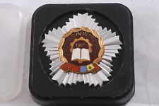 Romania Romanian Medal Badge Labor Front Worker 1977 with Box Communist