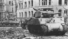 WW2  Photo M4 Sherman Tank in  Germany 1945   WWII World War Two