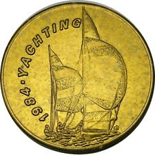 elf 1984 Olympics Bus Token  Yachting  Ship