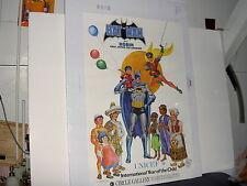RARE BATMAN UNICEF INTERNATIONAL YEAR OF THE CHILD CIRCLE GALLERY POSTER 1979
