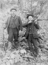EARLY ANTIQUE REPRO 8 X10 PHOTOGRAPH HUNTERS MARLIN LEVER ACTION RIFLES