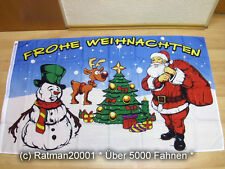 Fahnen Flagge Frohe Weihnachten Rentier - 90 x 150 cm