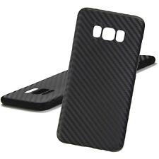 Samsung Galaxy S8 Carbon Schutzhülle Silikon TPU Ultra Slim Cover Case Schwarz