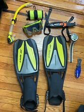 Scuba Dive Gear: Computer, Fins, Mask, Snorkel, Smb, and 2 Knives Package Set